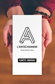 Photo d'une carte cadeau escape game de L'Antichambre